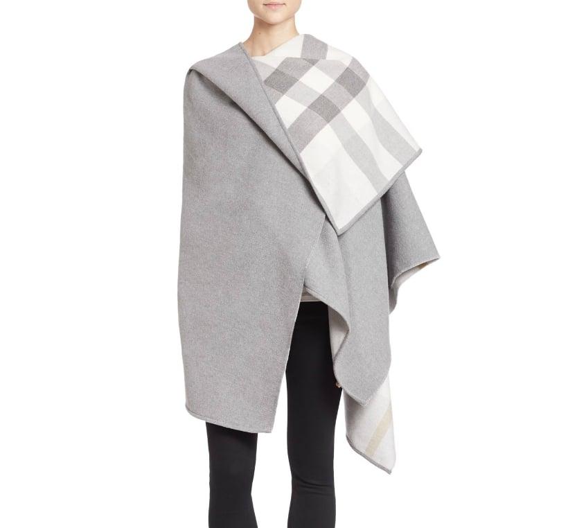 Burberry Checked Lining Merino Wool Cape ($895)