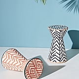 Twill Ceramic Indoor/Outdoor Side Tables