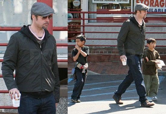 Photos of Brad Pitt, Angelina Jolie, Maddox Jolie-Pitt, Pax Jolie-Pitt in NY