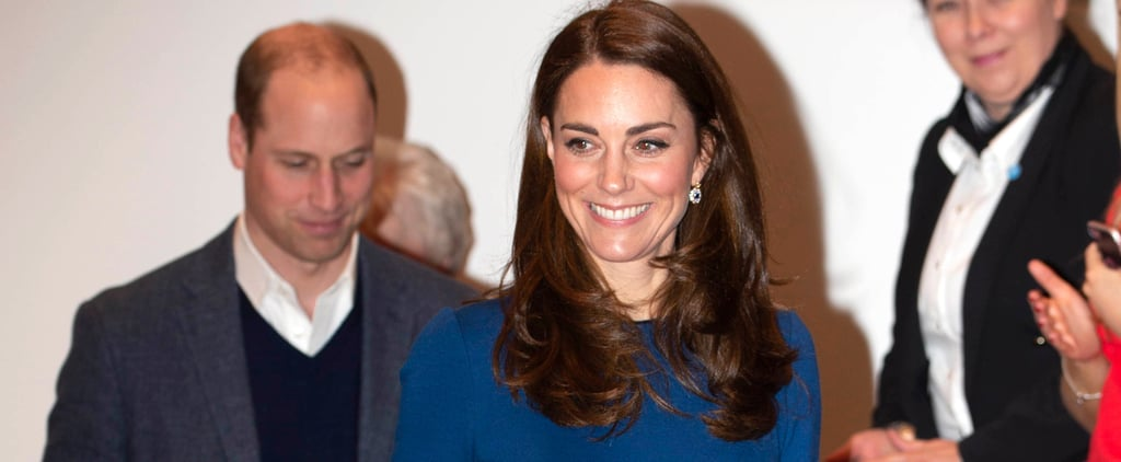 Kate Middleton Blue Jenny Packham Dress in Northern Ireland