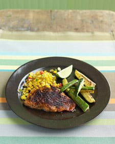 Fast & Easy Dinner: Salmon With Zucchini and Sauteed Corn