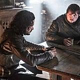 Jon (Kit Harington) and Sam (John Bradley) have a chat.
