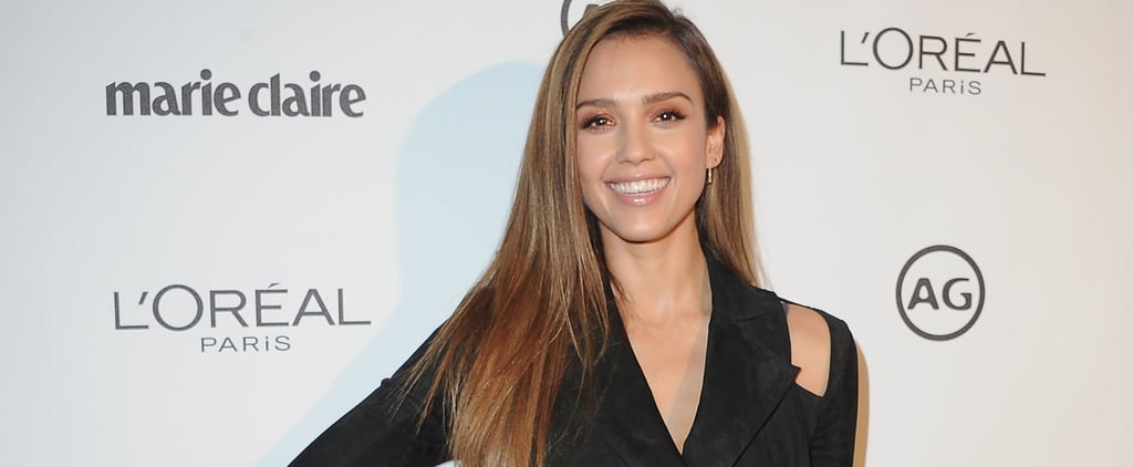 There's a Serious '90s Vibe to Jessica Alba's Unique Blazer