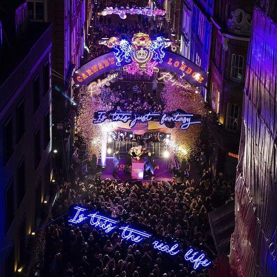 Queen Bohemian Rhapsody Lights on Carnaby Street in London