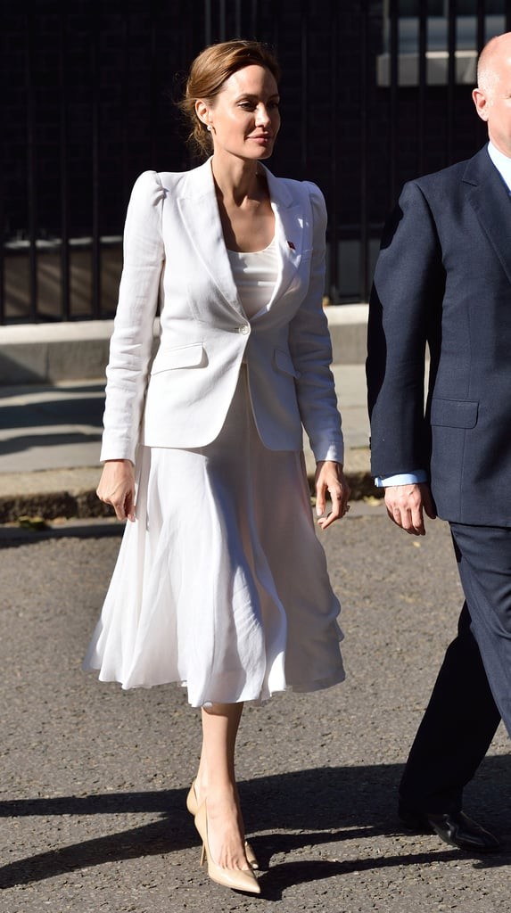 If You're Going For All White Monochrome, Stick With Neutral Pumps For Total Sophistication