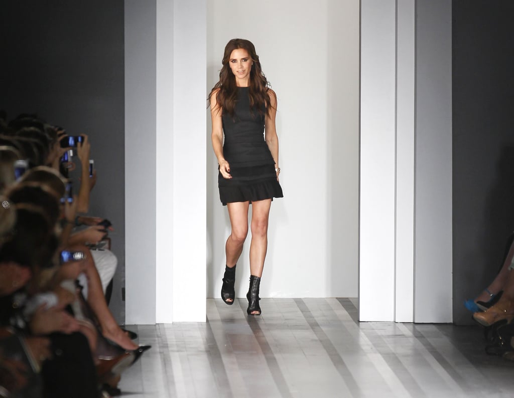 Wearing a Minidress From Her Spring 2013 Collection
