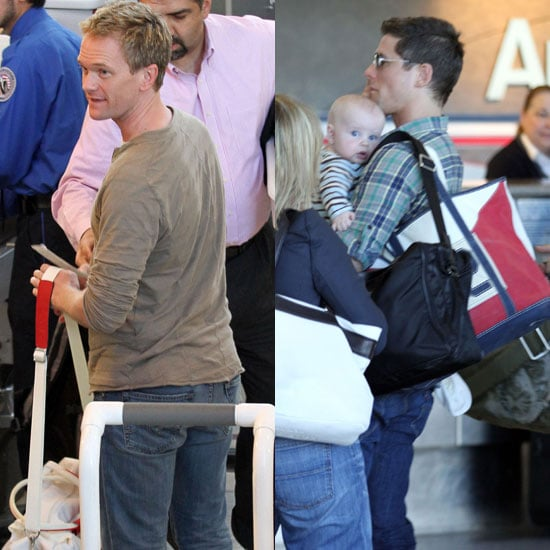 Pictures of Neil Patrick Harris, David Burtka, Gideon Burtka-Harris, and Harper Burtka-Harris Leaving LAX