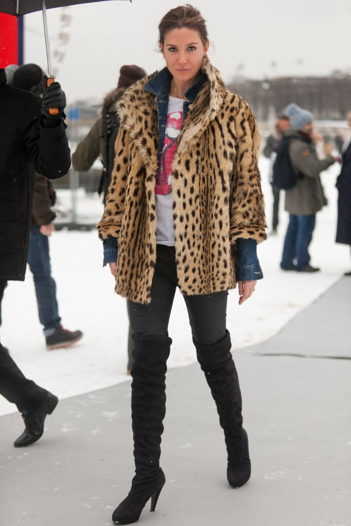 736c05dec3be With a leopard-print coat in your arsenal, it's easy to replicate ...