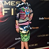 Meta Golding showed she wasn't afraid of print — or bold color — on tour in New Jersey.