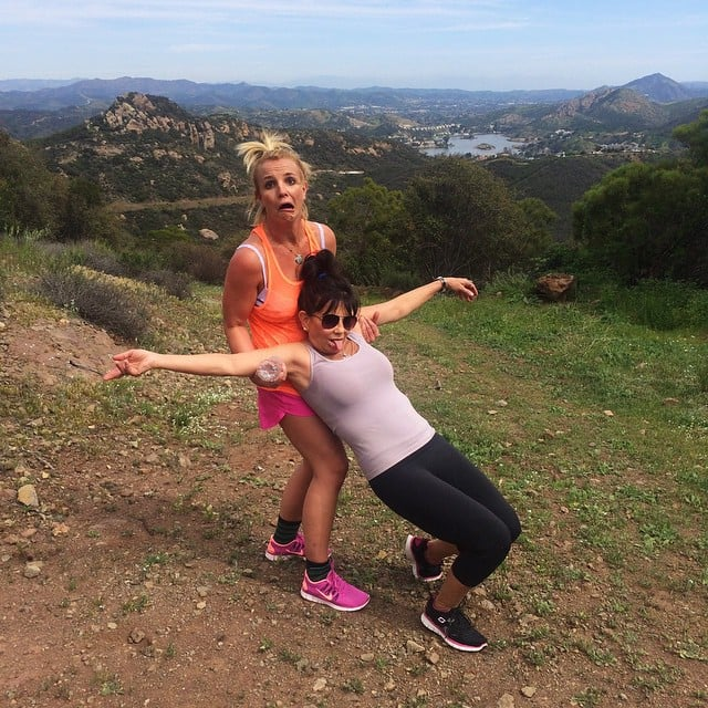 They even go hiking together.