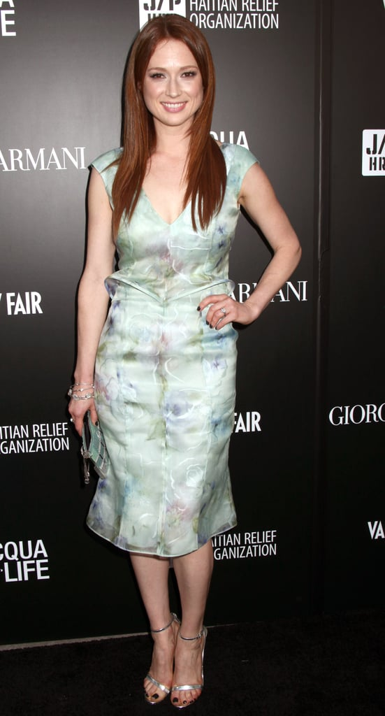 Ellie Kemper went for a pastel look.