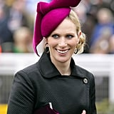 Aside from the unique shape (is that a bow tie we spy?), the fuchsia color is also very becoming on Zara Phillips.