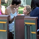 Halle Berry and Nahla Aubry sat together.