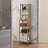 Ahriah Solid Wood Free-Standing Bathroom Shelves