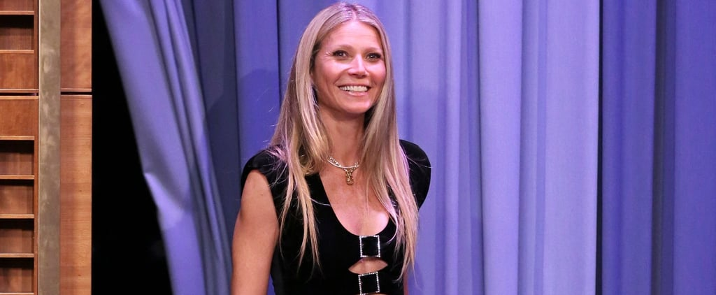 Gwyneth Paltrow Black Dress on Jimmy Fallon 2019