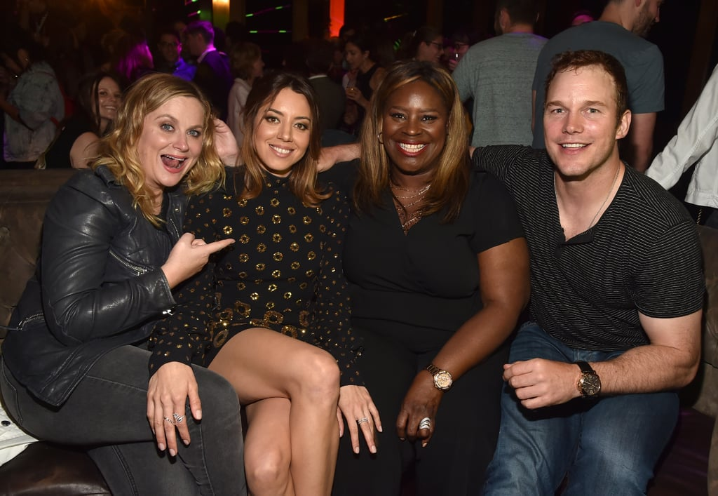 "Our world just hasn't been the same since Parks and Recreation ended in 2015, but thankfully the cast is still just as close as ever. On Thursday, a handful of the show's long-running stars, Amy Poehler, Chris Pratt, and Retta, reunited to support their former costar Aubrey Plaza at the LA premiere of Ingrid Goes West. Aside from posing for a big group photo inside the event, Aubrey and Chris, who played wife and husband on the series, even had a few adorable moments on the red carpet as they shared a warm hug. As if that wasn't incredible enough, the actress also admitted that she is hopeful for a full-fledged reunion, adding, ""I feel that would for sure happen at some point."""