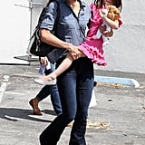 Katie Holmes and Suri Cruise hanging out in LA.