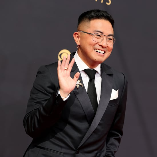 Bowen Yang's Metallic Platform Heels at the 2021 Emmys