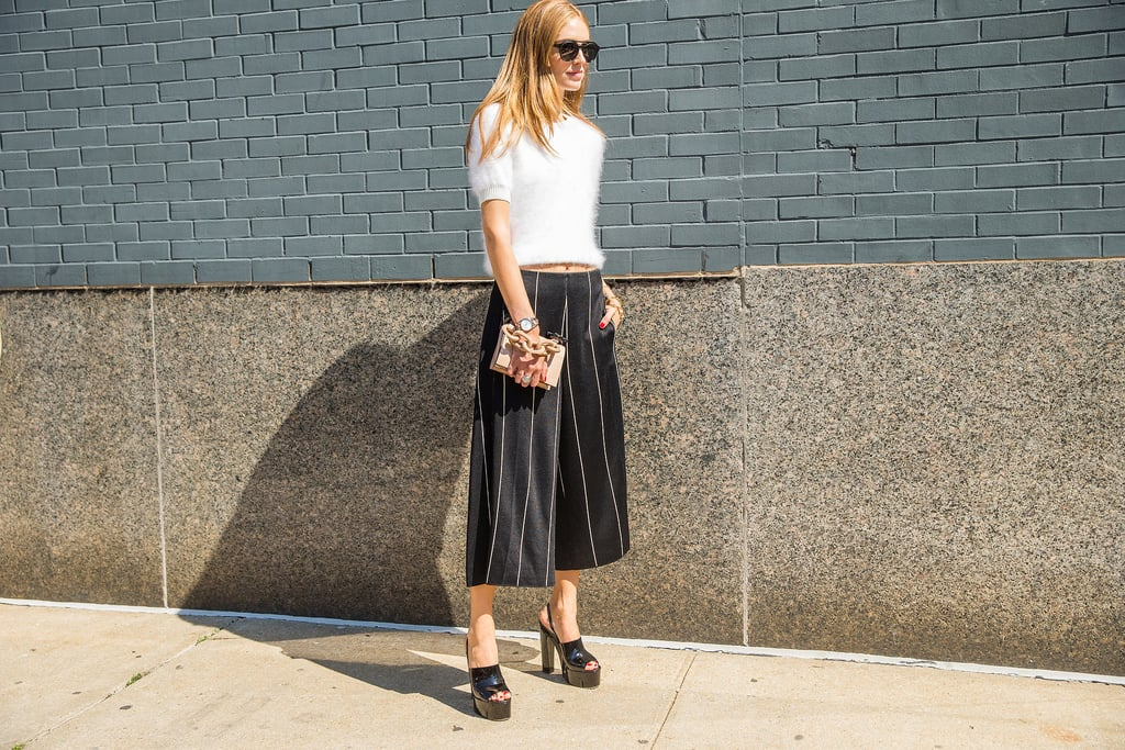 A Fuzzy Crop Top, Culottes, and Platforms