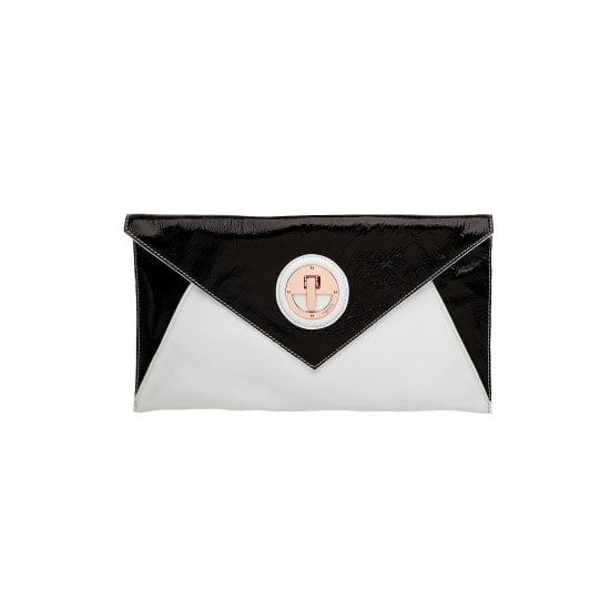 I'm in the middle of a deeply passionate love affair with envelope clutches. This two-tone goodie is perfect for a day at the races— sleek, chic and the perfect size for all my essentials. — Genevieve, associate editor Clutch, $229, Mimco