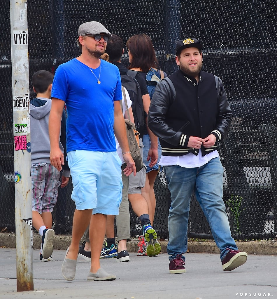 Leonardo DiCaprio and Jonah Hill in NYC August 2016