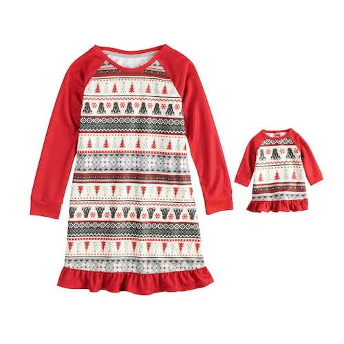 be9f11cb2 Jammies For Your Families Polar Bear Fairisle Nightgown   Doll Gown ...