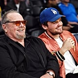 Jack Nicholson and Son Ray at Lakers Game March 2017