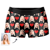 Men's Custom Heart Boxer Shorts