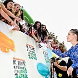 Kristen Stewart Wows in Bright Blue Stella McCartney at Kids' Choice Awards