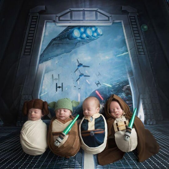 Quadruplets Star Wars Newborn Photos