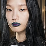 Two-Toned Goth Lips at Self-Portrait