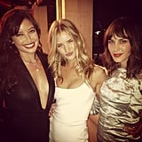 British beauties Rosie Huntington-Whiteley, Alexa Chung, and Daisy Lowe took photos together at the GQ Men of the Year Awards in London. Source: Instagram user chungalexa