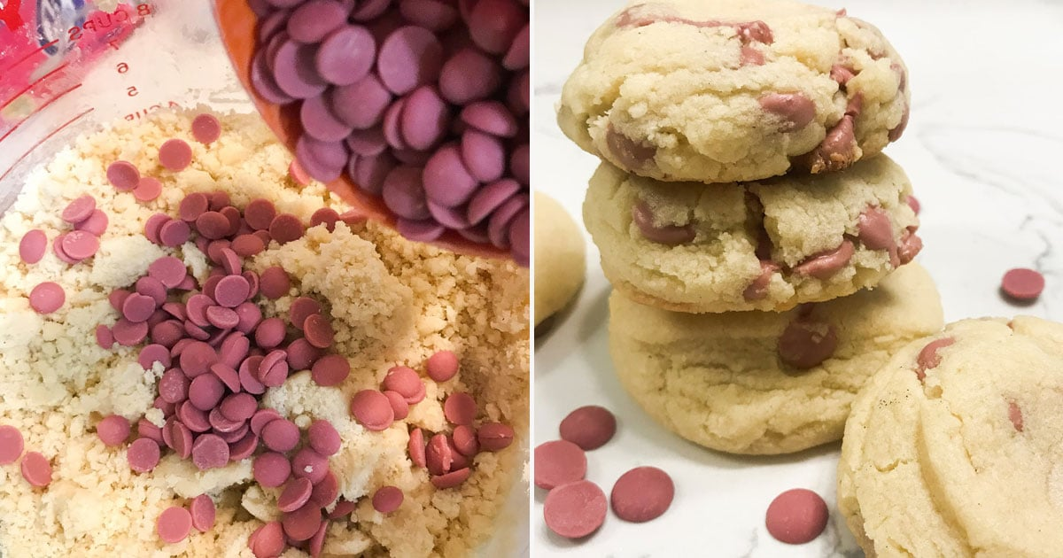 We're Trying Really Hard Not to Freak Out Over These Ruby (!) Chocolate Chip Cookies