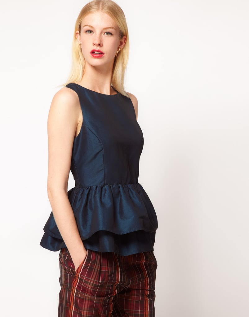 ASOS's Top With Tutu Peplum ($55) would be the party-ready complement to your black pencil skirt or trousers.