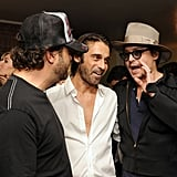 Johnny Depp deconstructed the artwork of Jordi Molla and Domingo Zapata with the artists.
