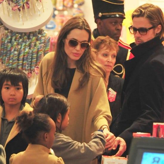 Angelina Jolie and Brad Pitt Shop at FAO Schwarz With Kids