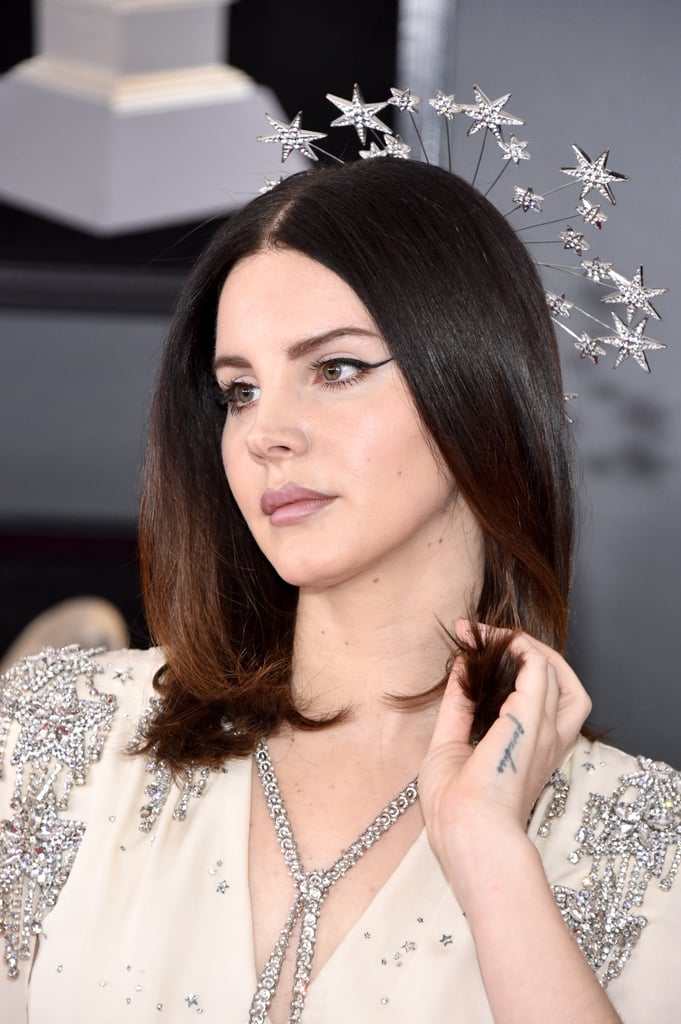 Lana Del Rey Headpiece at 2018 Grammys