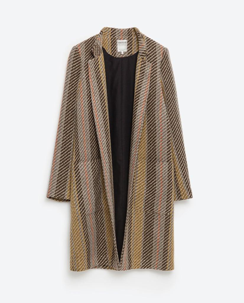 Zara Striped Jacquard Coat ($149)