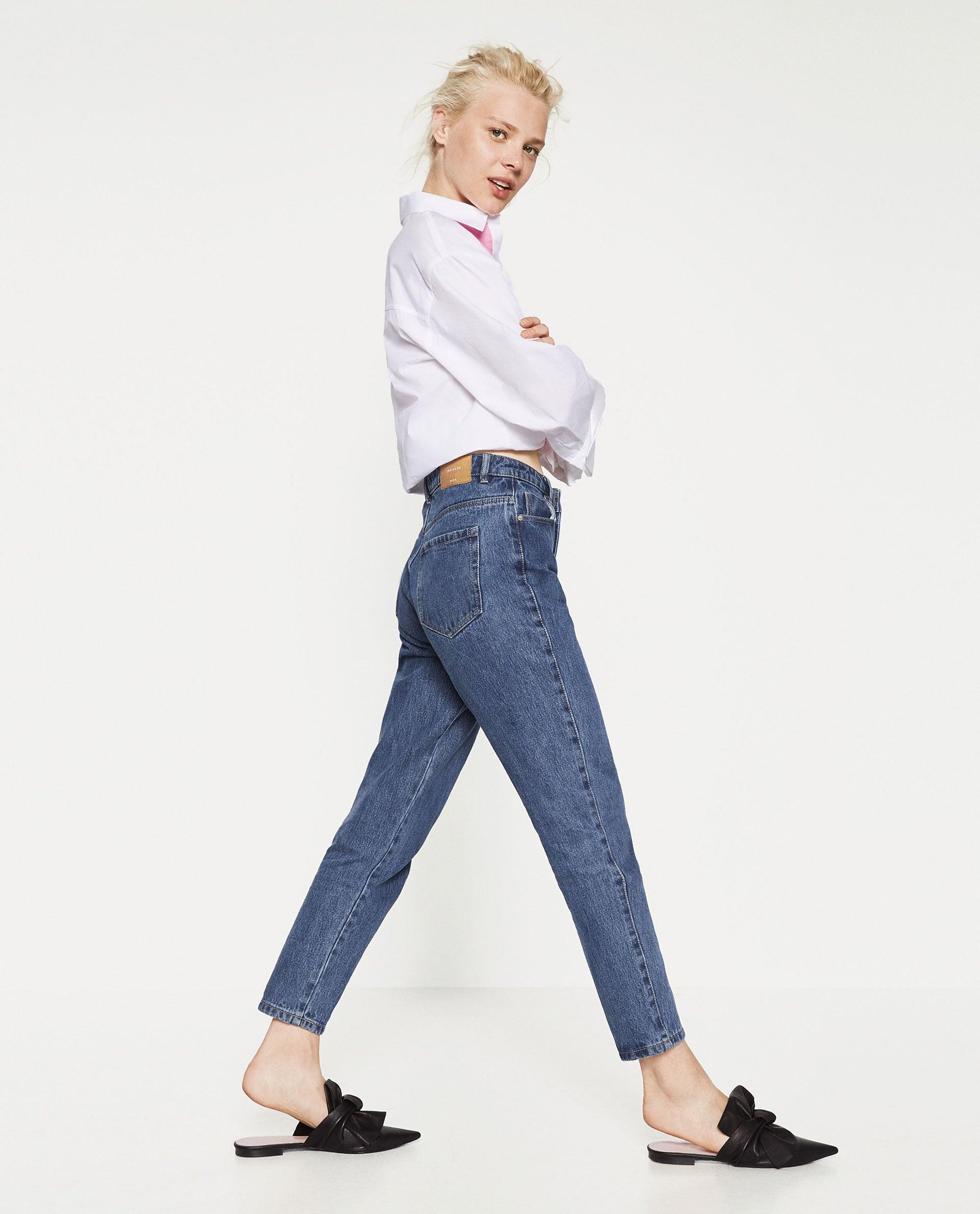 zara mom fit jeans 40 if friends was still on rachel. Black Bedroom Furniture Sets. Home Design Ideas