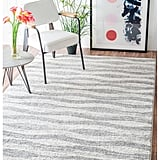 nuLoom Contermporary Geometric Waves Grey Rug ($72)