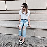 A White T-Shirt, Distressed Jeans, and a Pair of Loafers