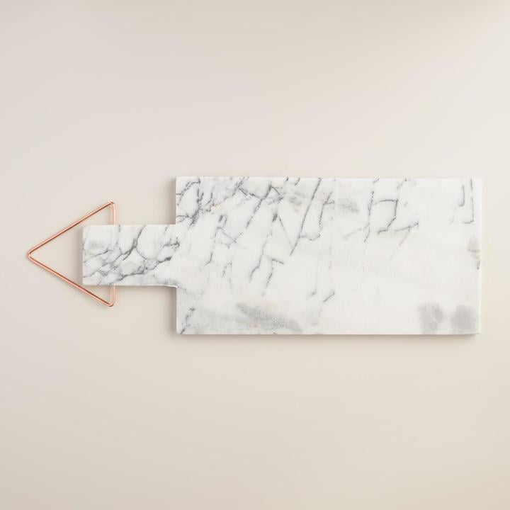 Marble Paddle Cutting Board with Copper Handle ($15)