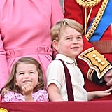 Pictured: Princess Charlotte and Prince George.