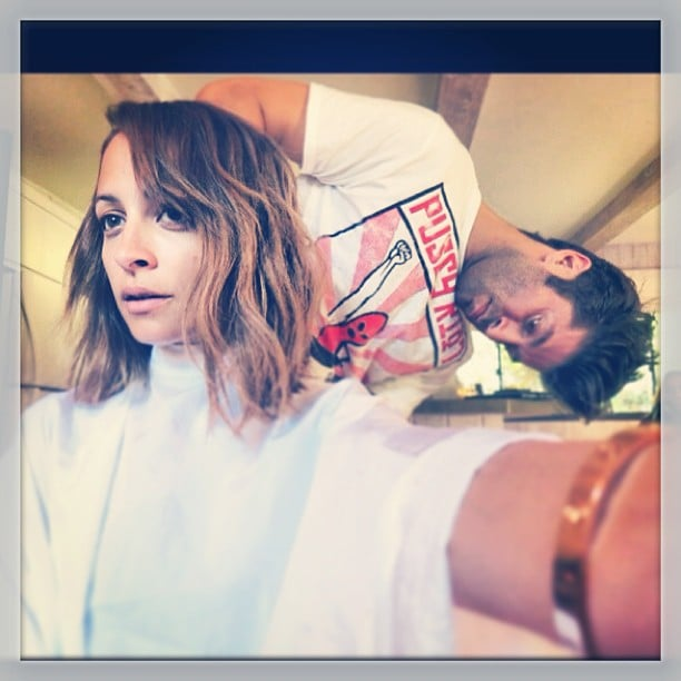 Nicole Richie shared a photo while getting a haircut. Source: Twitter user nicolerichie