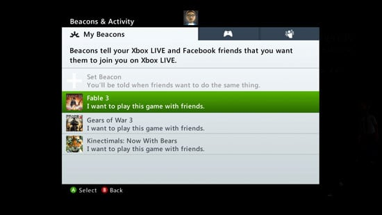 Another look at Beacons on Xbox Live.