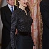 In January, Queen Letizia made a picture-perfect appearance at the annual Foreign Ambassadors reception.