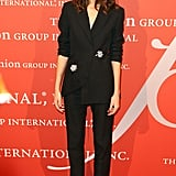 For an event in New York in October 2013, Alexa opted again for a trouser suit but gave it a feminine twist with a pair of high heels.