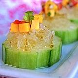 Lime Granita-Mango Salsa Bites