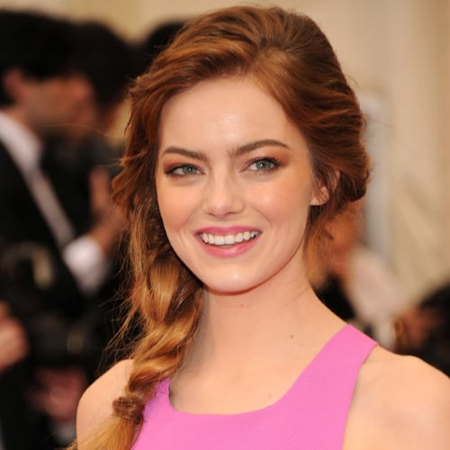 Pictures of Emma Stone Hair and Makeup 2014 Met Gala