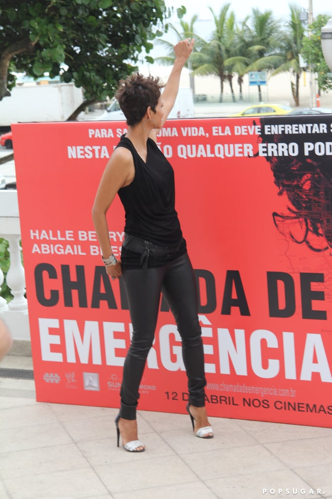 Pregnant Halle Berry Continues Her Press Push in Brazil